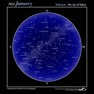 Astro Chart Star Chart Naoj National Astronomical Observatory Of
