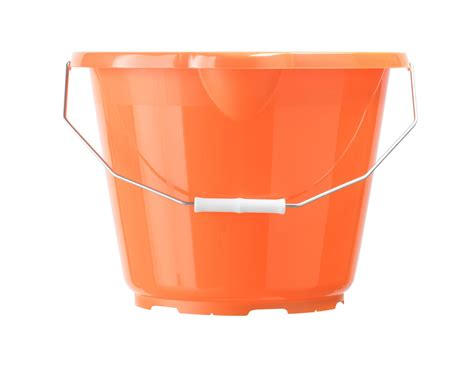 bq orange plastic  ml bucket departments diy  bq