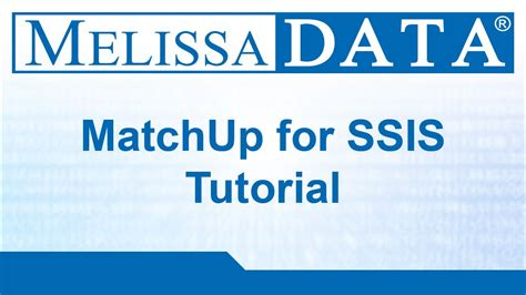 melissa datas matchup  ssis tutorial youtube