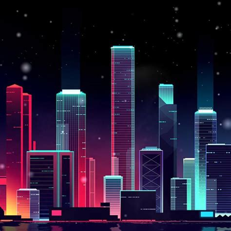 neon skyline wallpaper engine  urban wallpaper