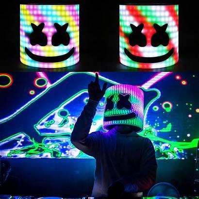 Marshmello Led Dj Helmet Concert Mask Lights