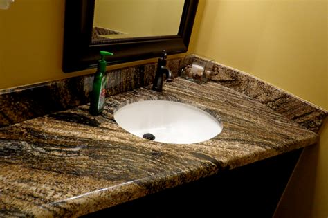 how to install a granite vanity top in your bathroom