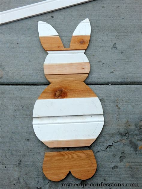 reclaimed wood easter bunny  recipe confessions