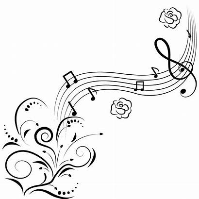 Notes Sound Musical Flowers Note Drawing Clipart
