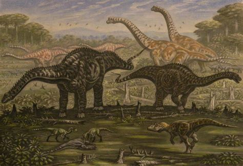 Diplodocus, Ornitholestes, Young Saurophaganax. By