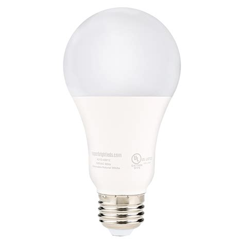 a21 led bulb 120 watt equivalent globe bulb dimmable