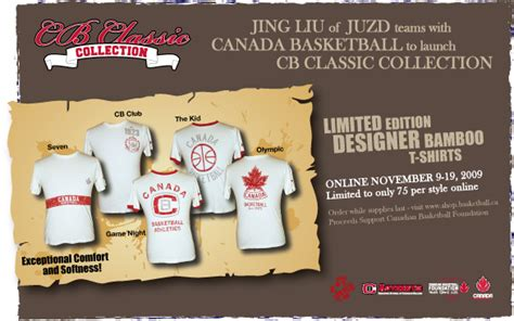 canada basketball launches cb classic collection  juzd