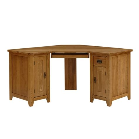 rustic wood corner desk rustic oak corner computer desk including free delivery
