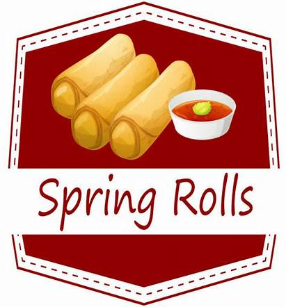 Spring Roll Vector Rolls Clip Chinese Illustrations