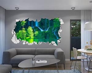 Green Waterfall 3D Wallpaper