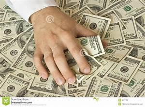 Greedy Hand Grabs Money Stock Photos - Image: 3811763