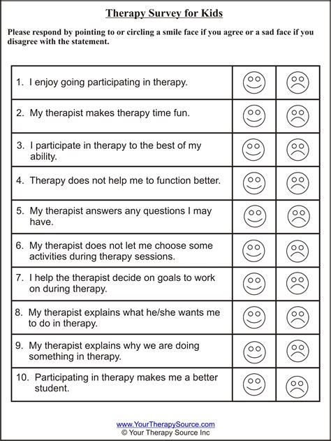 therapy survey  kids  therapy source