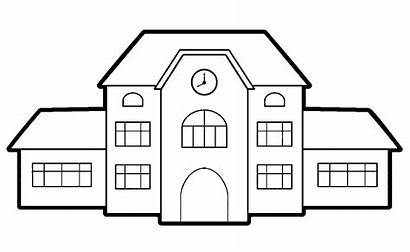 Coloring Pages Building Middle Clipart Library Outline