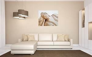 Grand Tableau Blanc : tableau ethnique zen bouddha marron taupe blanc grand ~ Teatrodelosmanantiales.com Idées de Décoration
