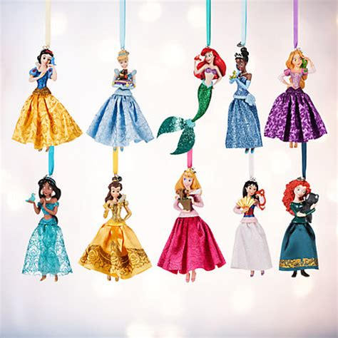 disney princess christmas ornaments set