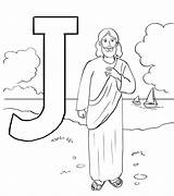 Jesus Coloring God Preschoolers sketch template