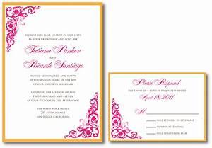 Pink wedding invitation a vibrant wedding for Wedding invitation designs fuchsia pink