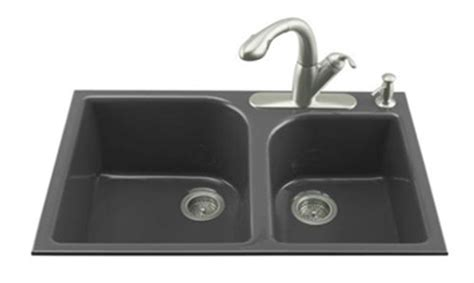 Kohler Executive Chef Sink Rack Black by Kohler K 5931 4 7 Executive Chef Basin Cast Iron