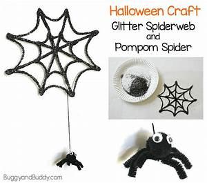 Halloween Crafts for Kids: Glitter Spider Web and Spider