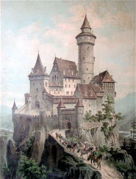 vintage clip art castle  graphics fairy