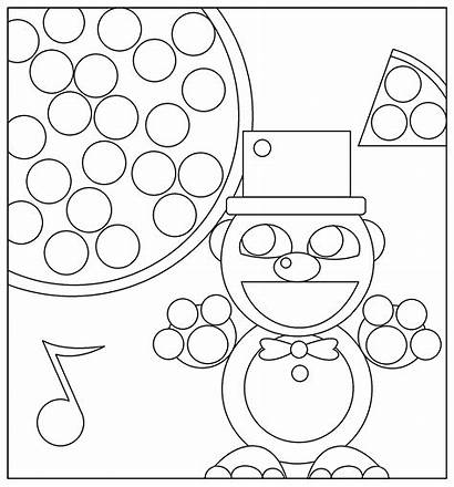 Freddy Coloring Nights Pages Five Fnaf Golden