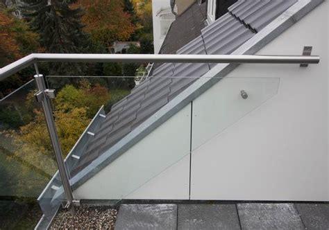 balkongeländer glas edelstahl balkongel 228 nder aus edelstahl und glas