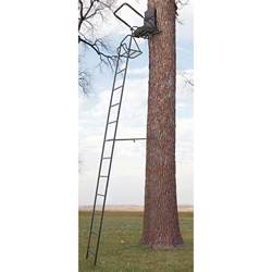 Shooting Rail For Tree Stand by Guide Gear 16 Deluxe Ladder Tree Stand 158965 Ladder