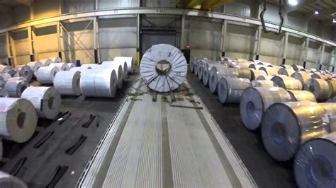 flatbed securing   steel coil youtube