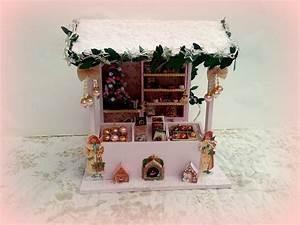 Maison De Noel Miniature : no l march pr sentoir maison de poup es vitrine collection accessoires de maison par ~ Nature-et-papiers.com Idées de Décoration
