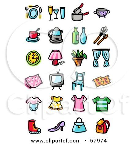 royalty  rf table setting clipart illustrations