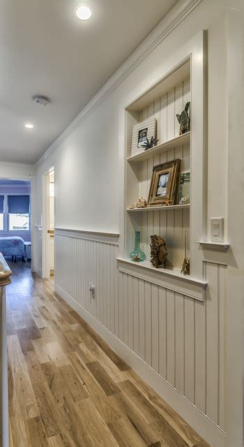 recessed wainscoting wall niche traditional hall