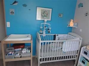 chambre bebe garcon bleu gris 6 photos bridgetmtp34 With chambre bleu pour fille