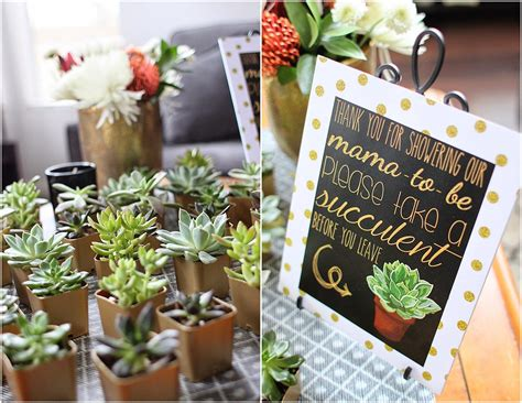 Baby Shower For - shades of gray black white gold shower with succulents