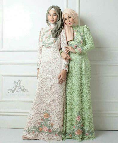 model baju gamis brukat brokat terbaru setelan hijab modis ryn fashion