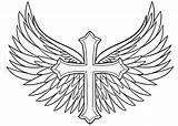 Wings Cross Draw Tattoo Drawing Step Tattoos Cool Easy Coloring Pages Cruz Dragoart Drawings Crosses Angel Wing Designs Tatuaje Alas sketch template