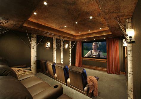 Home Theaters & Man Cave Interior Designs Inspired by