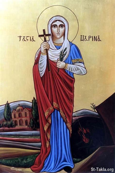image coptic saints saint marina  sor aykon alkdys