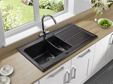 how to clean a black kitchen sink black granite