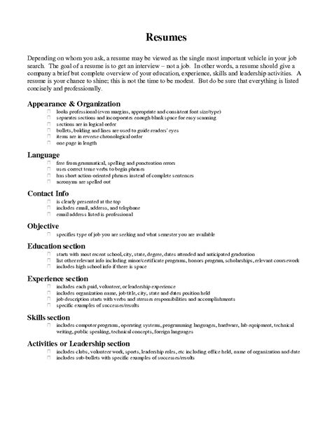Resume Wording For Objective by Best Photos Of Exle Of A Completed Resume Completed