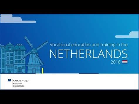 vocational education  training   netherlands youtube