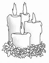 Candle Coloring Pages Christmas Draw Candles Four Drawing Advent Drawings Print Getdrawings 2kb 776px sketch template