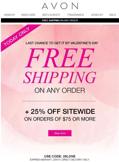 ls plus free shipping code avon free shipping any order plus 25 off your online