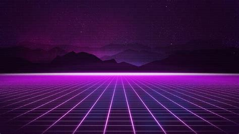 retrowave grid mountain hd artist  wallpapers images