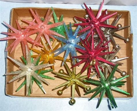 sputnik christmas ornaments vintage lot plastic sputnik ornaments glitter light covers ornaments