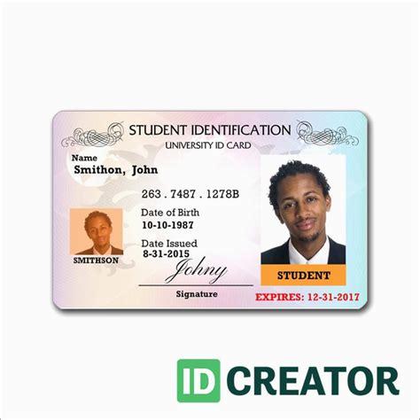 id template  pleasant blank id card templates psd ai