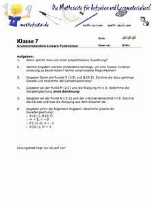 Steigung Lineare Funktion Berechnen : arbeitsblatt lineare funktionen grundverst ndnis ~ Themetempest.com Abrechnung