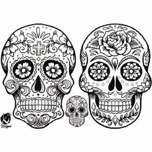 Tete De Mort Mexicaine Dessin : transfert thermocollant tete de mort 2 noir format a4 ~ Melissatoandfro.com Idées de Décoration