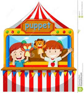 Children Perform Puppet Show On Stage Stock Vector - Image ...