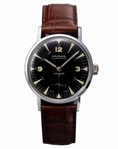 Watches Clock Wristwatch Transparent Arcadia Wrist 1950