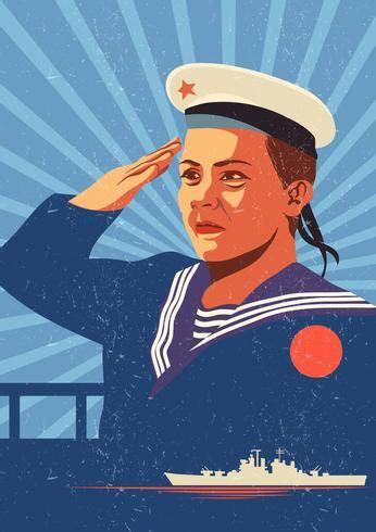 vintage seaman poster vector   vectors